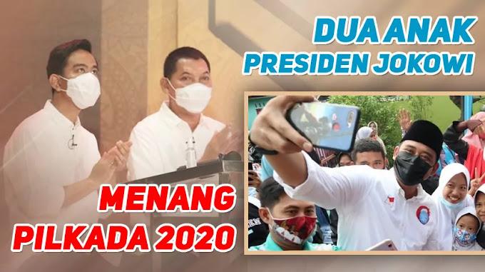 Dua Anak Presiden jokowi Menang Pilkada 2020
