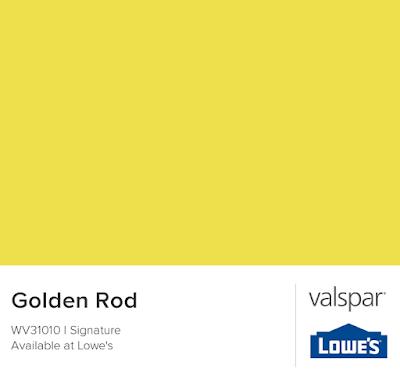 Color card for Valspar's Goldenrod WV31010