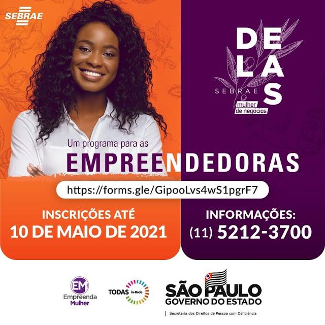 Governo de SP e Sebrae-SP abrem inscrições para curso de empreendedorismo para mulheres com deficiência