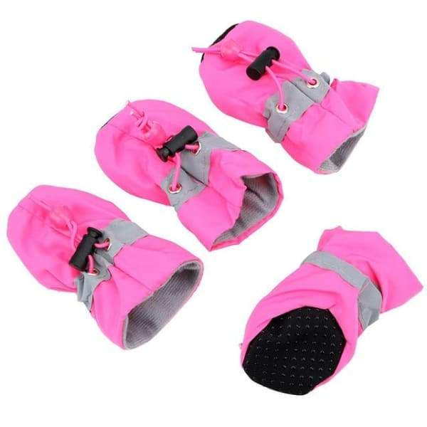 4-piece pet puppy shoe for your pet is non-slip and waterp