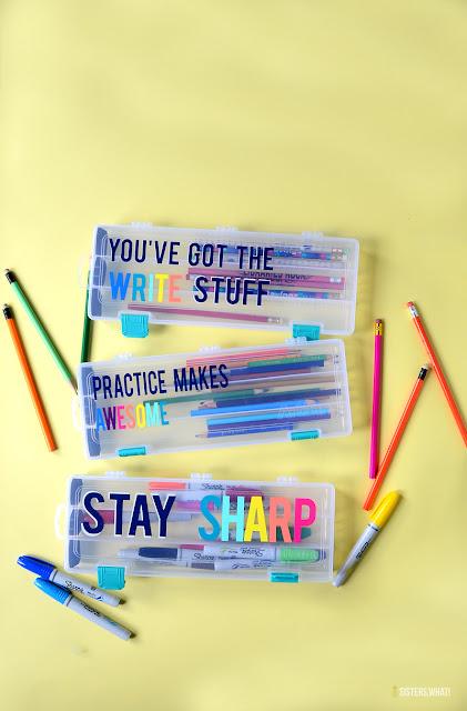 colorful pencil box