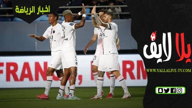 تقرير مباراة باريس سان جيرمان وستراسبورغ اليوم