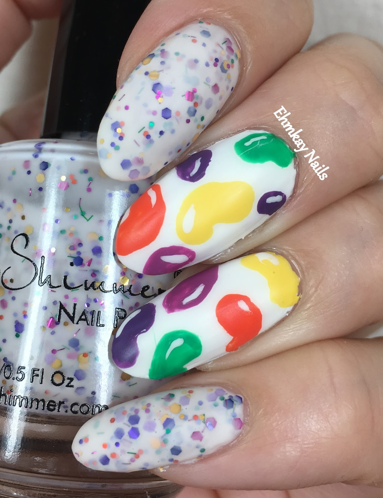 ehmkay nails: Jelly Bean Nail Art for Easter with KBShimmer Tempting ...