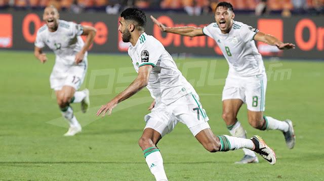 رياض محرز أفضل لاعب في مباراة الجزائر ونيجيريا