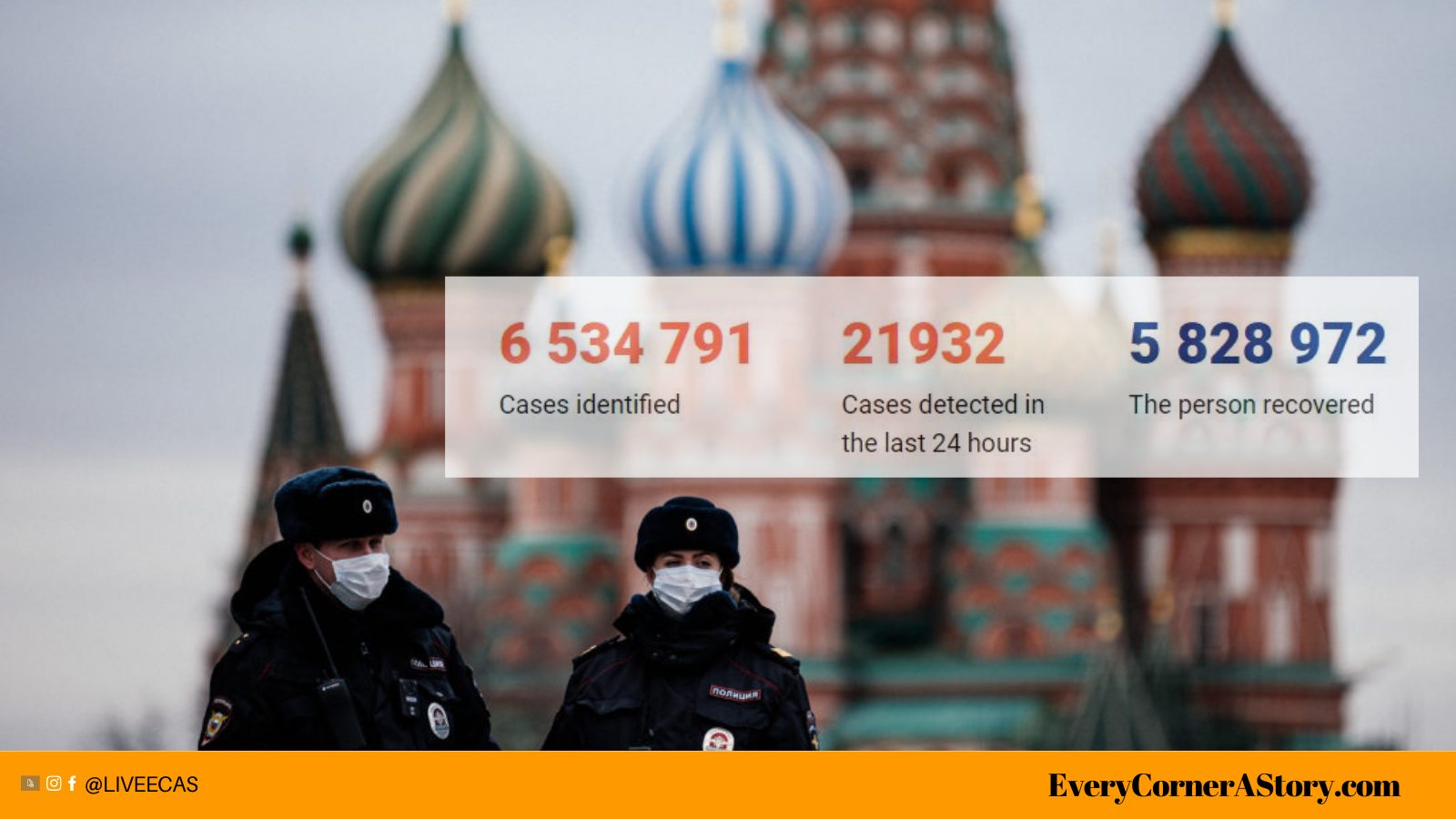 Russia reports all-time high of 808 COVID-19 Fatalities for the fifth time ecas india every corner a story
