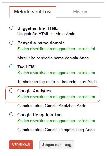 Cara Mengetahui Verifikasi Google Analytics sudah Berhasil