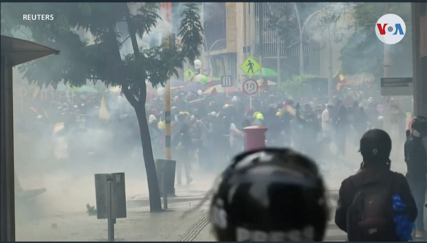 Los ojos de la comunidad internacional están puestos en Colombia / REUTERS / VOA