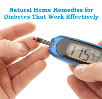 Natural Home Remedies for Diabetes That Work Effectively
