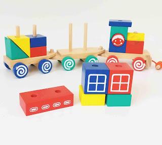 Mainan Kereta Balok