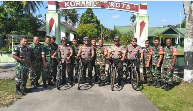 Pererat Soliditas, Kapolsek Sambangi Koramil 1016-01/ Pahandut