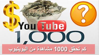كيفية الربح من اليوتيوب : كيف يثم احتساب 1000 مشاهدة على اليوتيوب