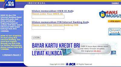 Cara Bayar Kartu Kredit BRI Lewat BCA