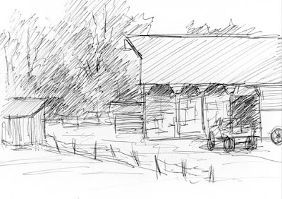 art sketch pen ink barn wheeler farm