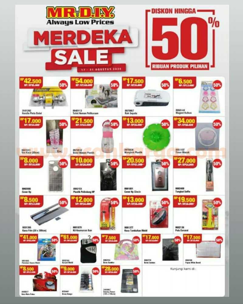 Promo Mr. DIY Merdeka Sale Diskon Hingga 50% Ribuan Produk Pilihan* 2