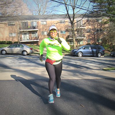 black woman running outdoors