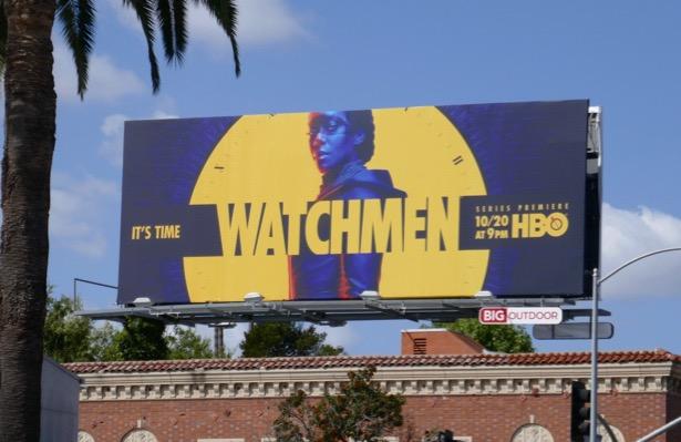 Watchmen series premiere billboard