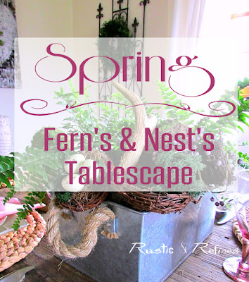 Tablescape inspiration for spring using rustic decor and a fresh spring color palette