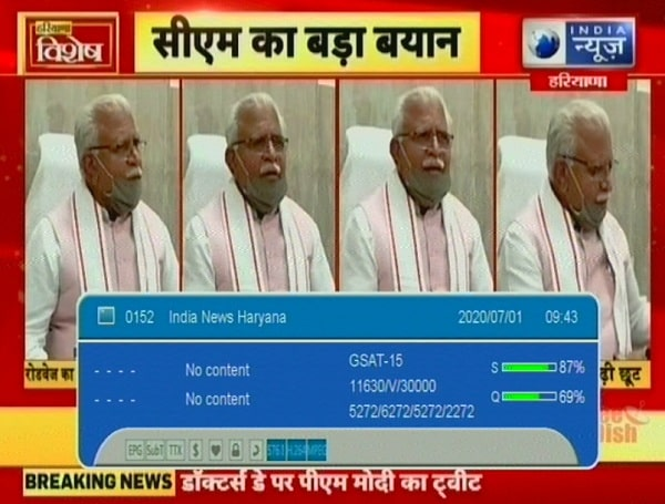India News Haryana Frequency, India News Haryana Channel Number