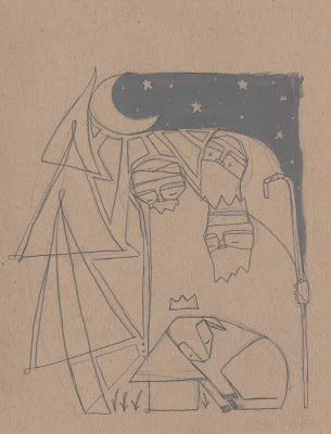Reid Matthew Epiphany Nativity Christmas Three Kings drawing