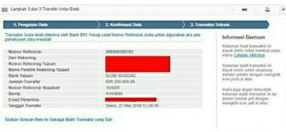 contoh bukti transfer bri internet banking