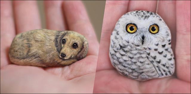Dead stones turned into innocence animals