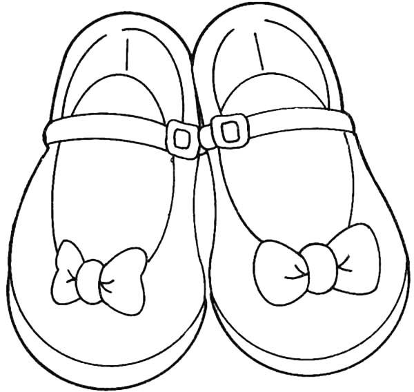 dibujo de zapatos para colorear