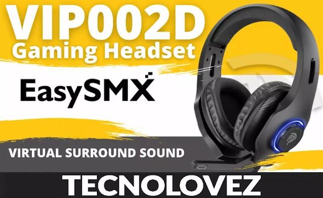 EasySMX VIP002D Cuffie Da Gaming Economiche Con Microfono e Surround 7.1 Virtuale