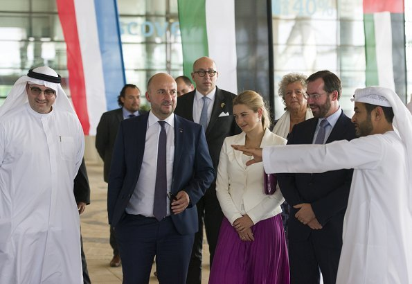 Hereditary Grand Duke Guillaume and Hereditary Grand Duchess Stephanie visit United Arab Emirates Abu Dhabi