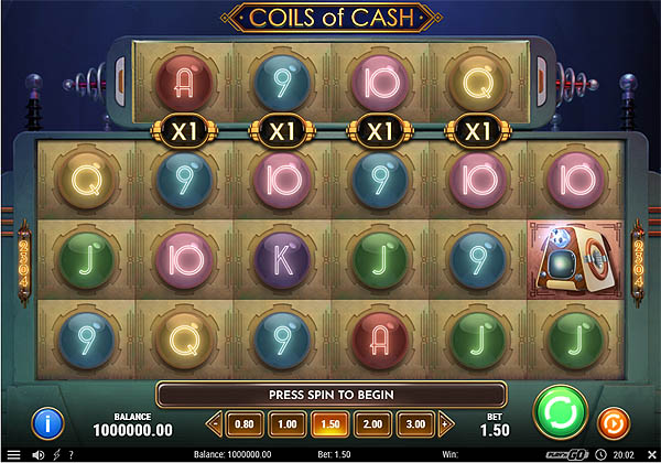 Main Gratis Slot Indonesia - Coils of Cash (Play N GO)