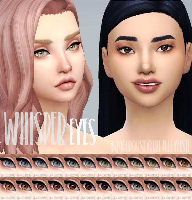DangerouslyFreeJellyfishCC: TS4 - Whisper Eyes