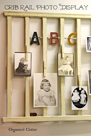 Crib Rail Baby Photo Display