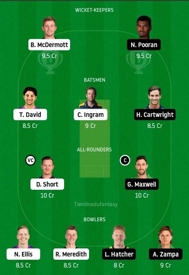 Hur vs sta dream 11 circket Prediction in tamil