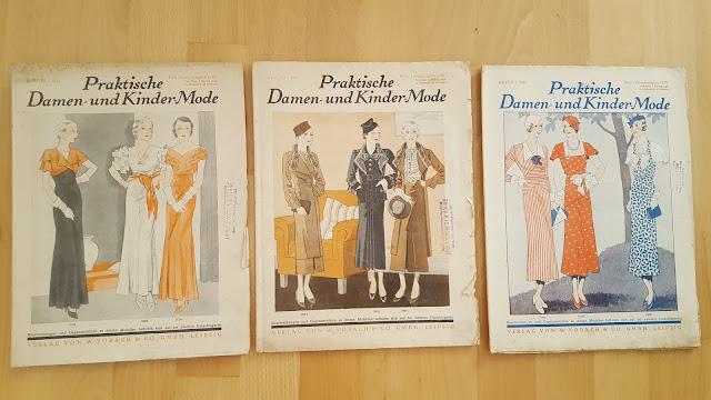 vintage sewing pattern magazine schnittmuster retro cut sewing pattern praktishe damen und kinder moden 1930s 30s