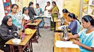 Short-term training in sewing knitting at Government ITI
