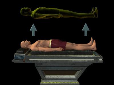 الاسقاط النجمى وتجربة الخروج من الجسد