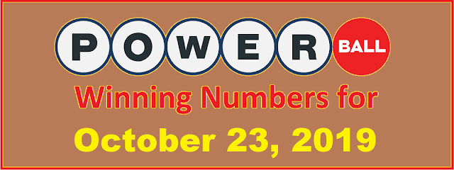 PowerBall Winning Numbers for Wednesday, October 23, 2019