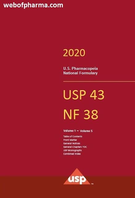 United State Pharmacopoeia 2020 USP 43- NF 38