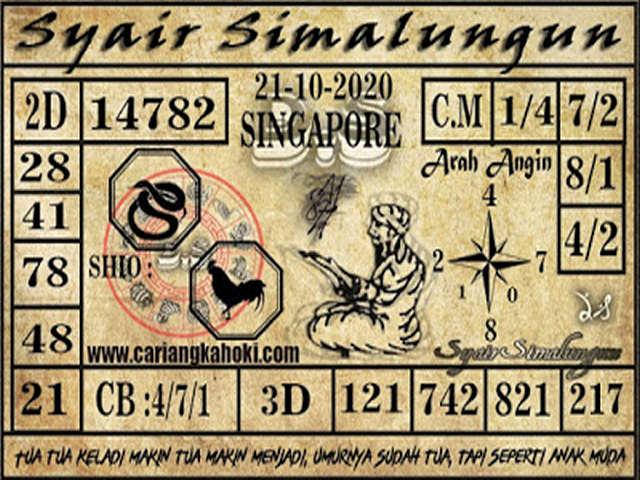 Kode syair Singapore Rabu 21 Oktober 2020 172