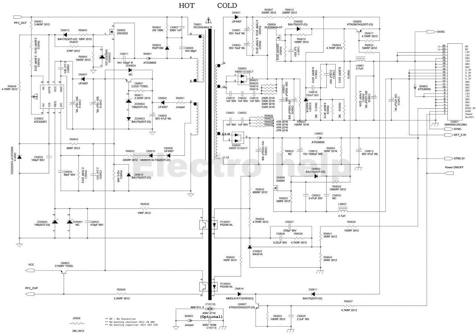 Electro help: BN4400197  SAMSUNG LCD TV POWER SUPPLY