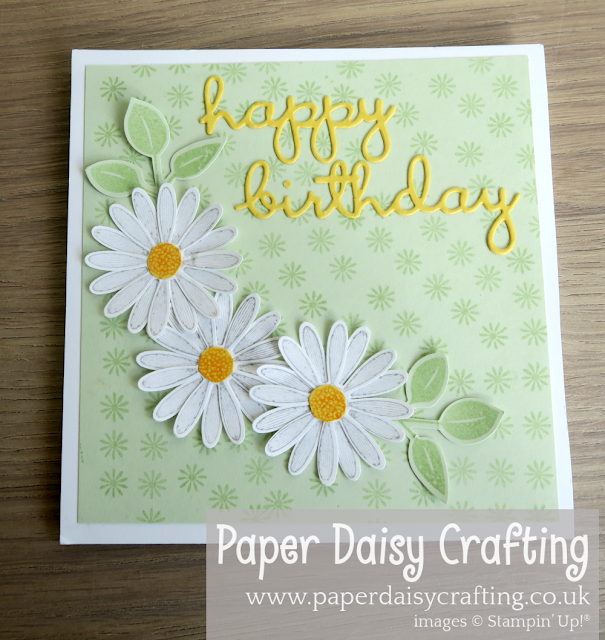Daisy Lane Fancy Fold Diagonal Easel Stampin Up
