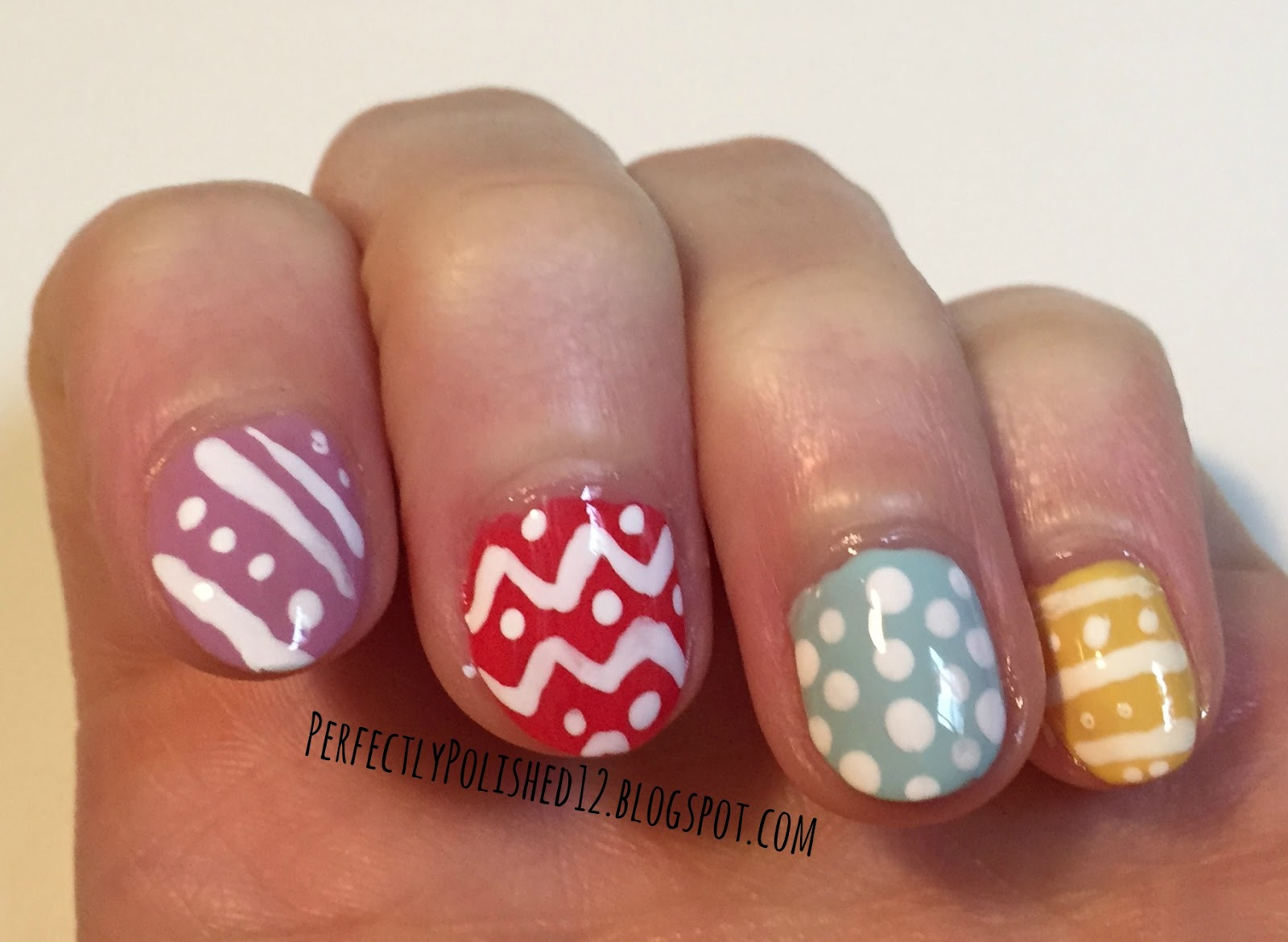 Perfectly Polished 12 Easter Egg Nails