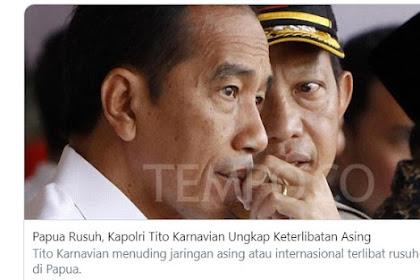 DPR Minta Kapolri Buktikan Pihak Asing Yang Terlibat Dalam Rusuh Papua