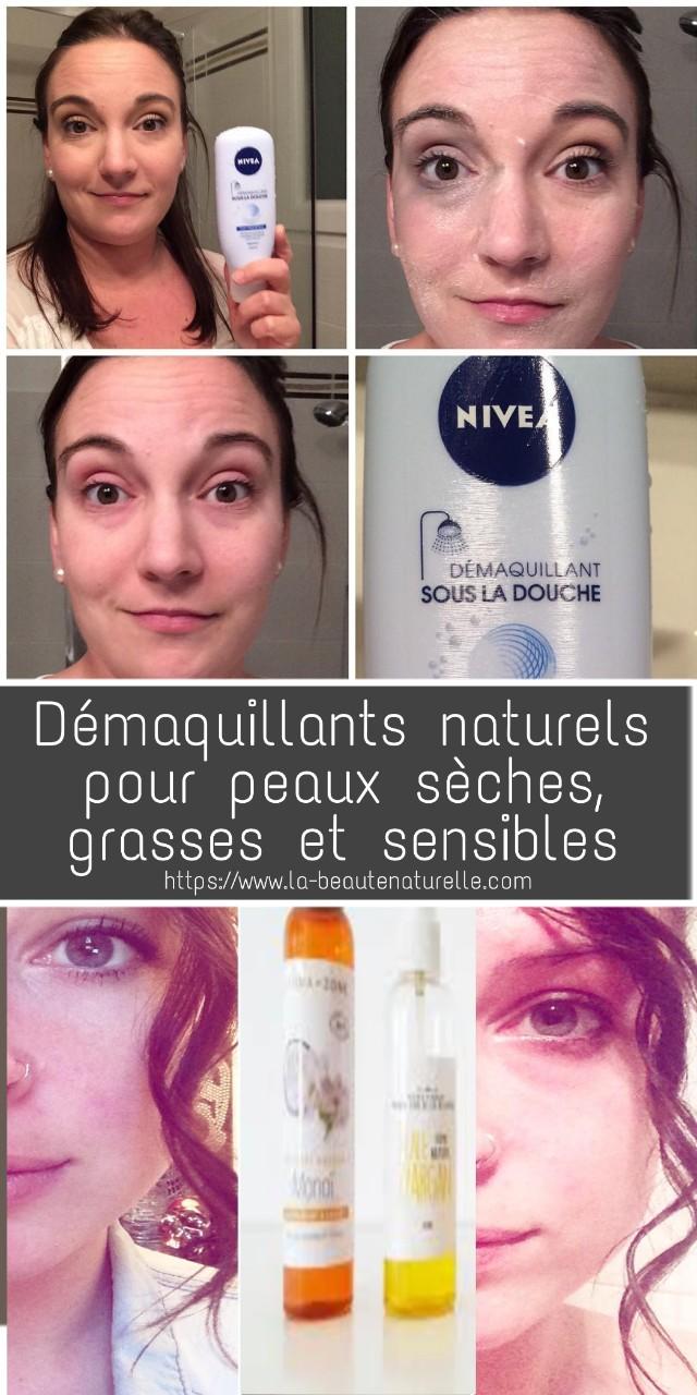 Démaquillants naturels pour peaux sèches, grasses et sensibles