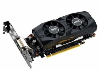Low profile graphics card with cooling fans