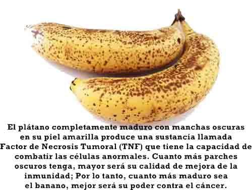 Meme relacionado con las bananas maduras y su acción anti cáncer