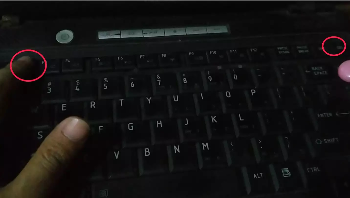 tombol untuk masuk bios laptop