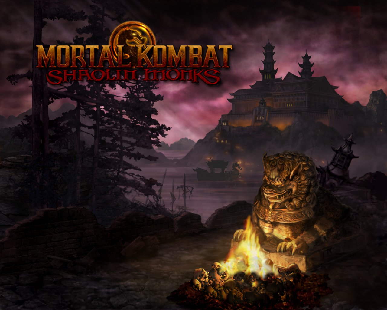 bristolian gamer: mortal kombat: shaolin monks review - god of war