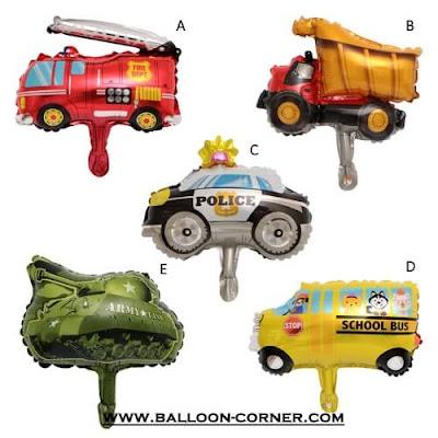 Balon Foil Seri Mobil (Ukuran Mini)