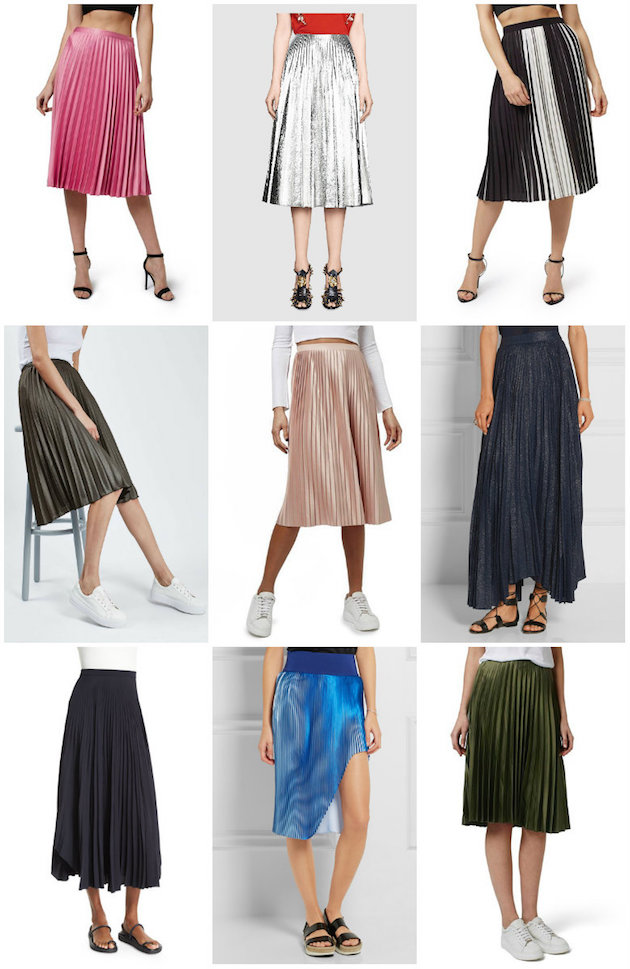 9 of my fave pleated skirts