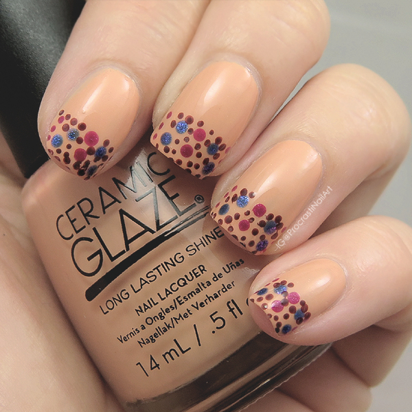 Nail Art: Polka Dots for #31DC2016 // Dotted French Tips ...